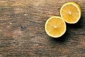 Two halves of fresh lemon — Stock Photo