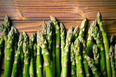 Top view of green asparagus — Stock Photo