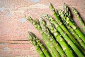 Bovenaanzicht van groene asperges — Stockfoto