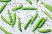 Top view of green pea pods — Stock Photo