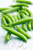 Green pea pods — Stock Photo