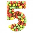 Five made from apples — Stock Photo