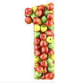 One made from apples — Stock Photo