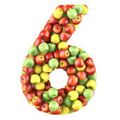 Six made from apples — Stock Photo