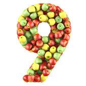 Devět z jablek — Stock fotografie