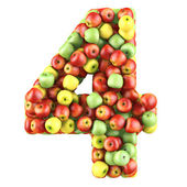 Four made from apples. — Stock Photo