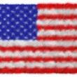 Stock Photo: USflag made from fur