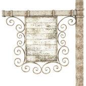 Eski ahşap tabela. — Stok fotoğraf