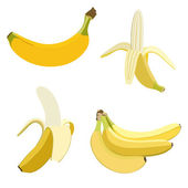 Set of bananas. — Stock Vector