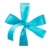 Blue bow. Photo-realistic Vector — Vector de stock