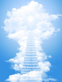 Ladder in the sky — Stock Photo