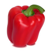Photo-realistic vector. Red sweet pepper — Stock Vector