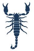 Scorpion tattoo. Vector illustration — Stock Vector