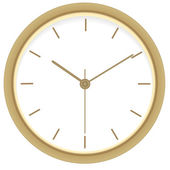 Golden clock. Vector illustration — Stok Vektör
