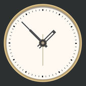 Golden clock. Vector illustration — Stock Vector