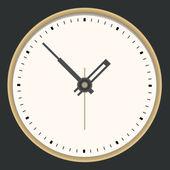 Golden clock. Vector illustration — Vector de stock