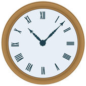 Clock. Vector illustration — Vector de stock