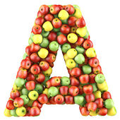 Letter made of apples — Photo