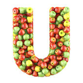 Letter made of apples — Stock Photo