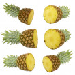 Set of Ripe pineapple. — Stock Photo