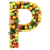 Letter made of fruits — Stock Photo