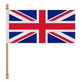 Flag of the United Kingdom. Vector illustration — Stock Vector