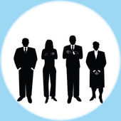 Business people vector — Stock Photo