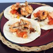 Shrimp taco dinner — Stock Photo