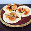 Shrimp tacos dinner — Stock Photo