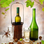 White wine still life — Stock Photo #2224342