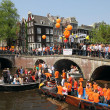 Queen's Day in Amsterdam, — Stock Photo