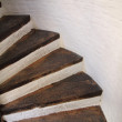 Wooden spiral stairs — Stock Photo