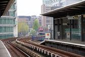 A Docklands Light Rail station — Stock Photo
