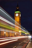 威斯敏斯特大桥夜景 — 图库照片