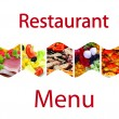 Menu's web page — Stock Photo
