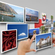 Placing pictures on the network — Stock Photo