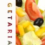 Vegetarian menu's page — Stock Photo