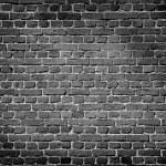 Old dark brick wall — Stock Photo