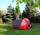 Tent on the grass — Stock Photo