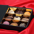 Pralines in a box — Stock Photo