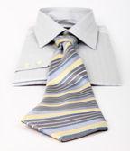 New gray shirt and tie — Stock Photo