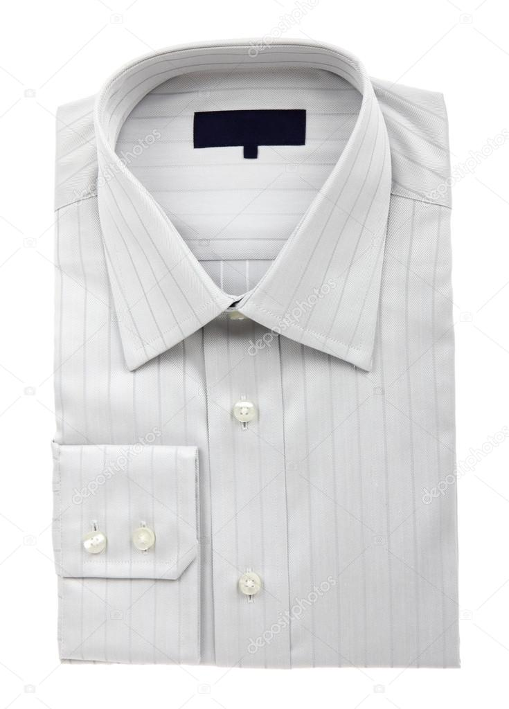 A new grey man's shirt isolated over a white background — Stock Photo #16518699