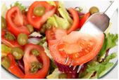 新鲜的沙拉叉 — 图库照片