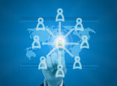 Managing organization or social network in digital age — Stock Photo