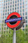 Sign of Underground in London — Stock Photo