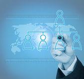 Hantera organisation eller socialt nätverk — Stockfoto