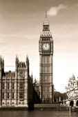 Vintage view of Big Ben — Stock Photo