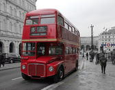 Classic Red Routemaster double decker bus — Stock Photo