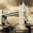 Stock Photo: Vintage view of Tower Bridge