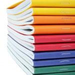 Multicolored exercise books — Stock Photo